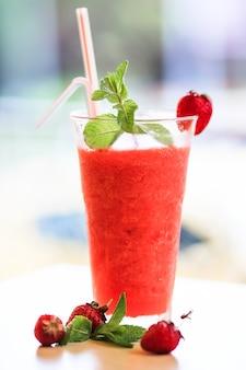 Cocktail de fraises fraîches