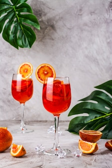Cocktail italien aperol spritz