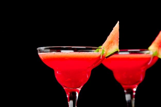Cocktail margarita pastèque. limonade de melon d'eau fraîche