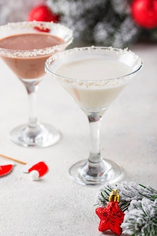 Cocktail martini flocon de neige chocolat noel