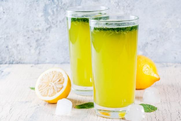 Cocktail mint masala soda