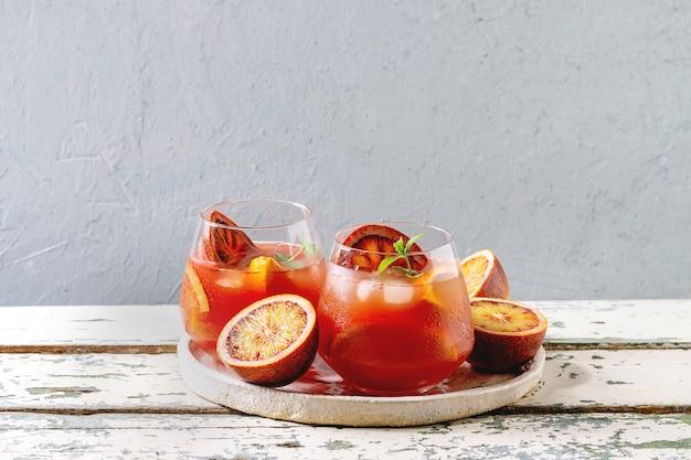 Cocktail orange sanguine