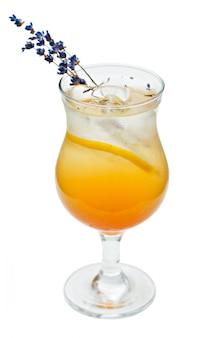 Cocktail orange en verre high ball