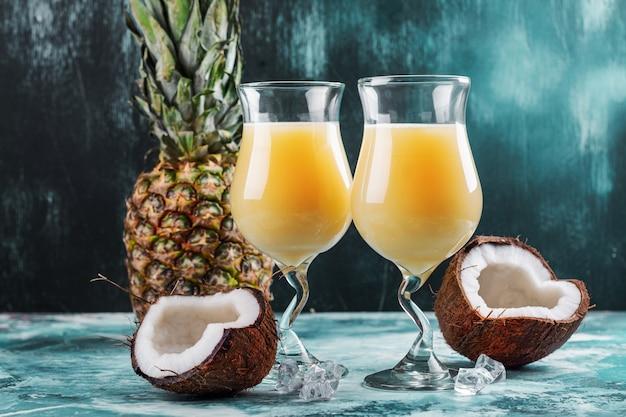 Cocktail pina colada des caraïbes