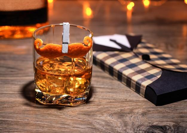 Cocktail sharpie moustache