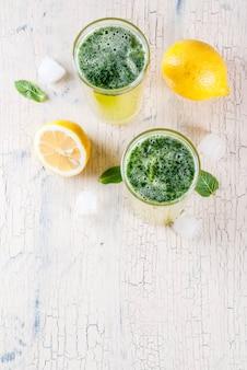 Cocktail soda à la menthe masala