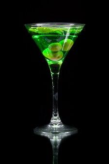 Cocktail vert coloré
