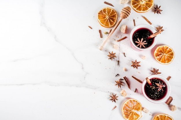 Cocktail de vin chaud aux épices