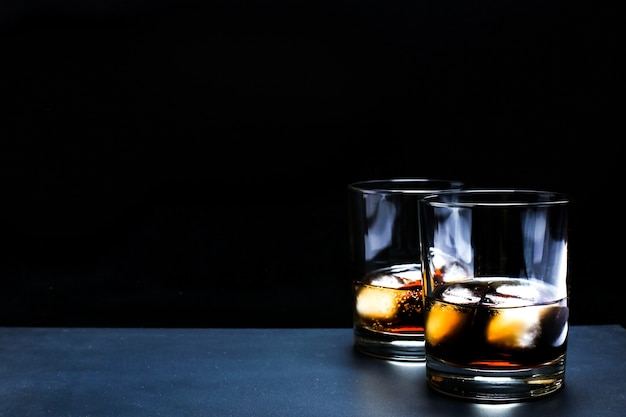 Cocktail de whisky-cola