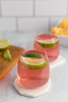 Cocktails au citron vert