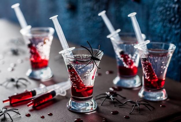 Cocktails de fête d'halloween