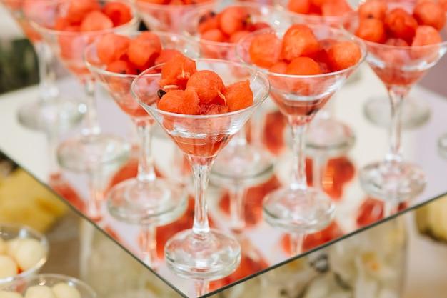 Cocktails sur table