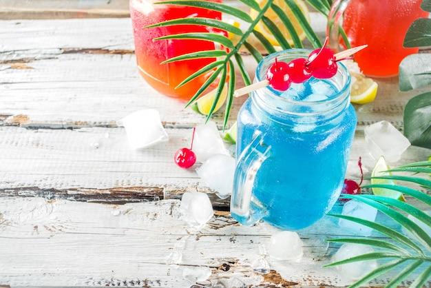 Cocktails tropicaux d'été
