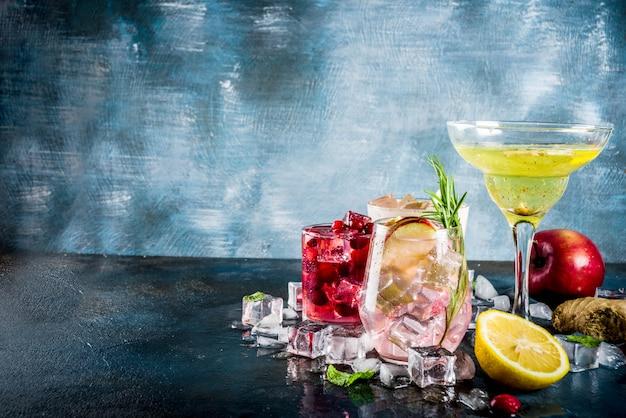 Cocktails variés automne-hiver