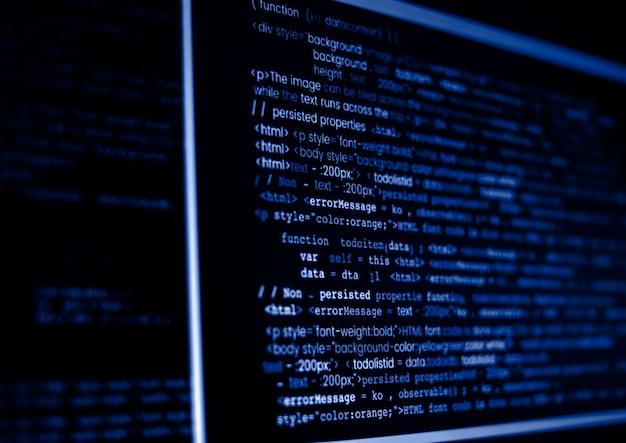 Code de programme informatique sur un écran