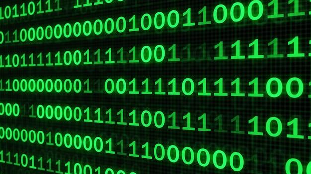Le code vert fait de la programmation un fond sombre
