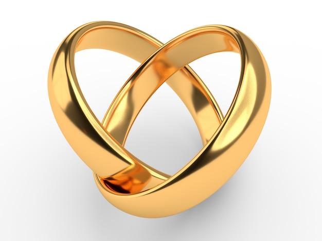 Coeur avec anneaux