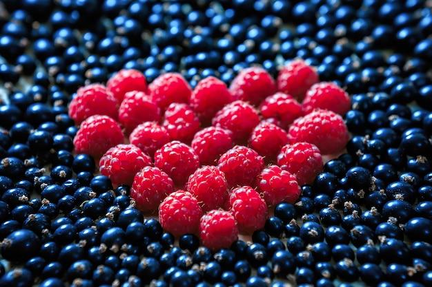 Coeur à base de framboises et bleuets