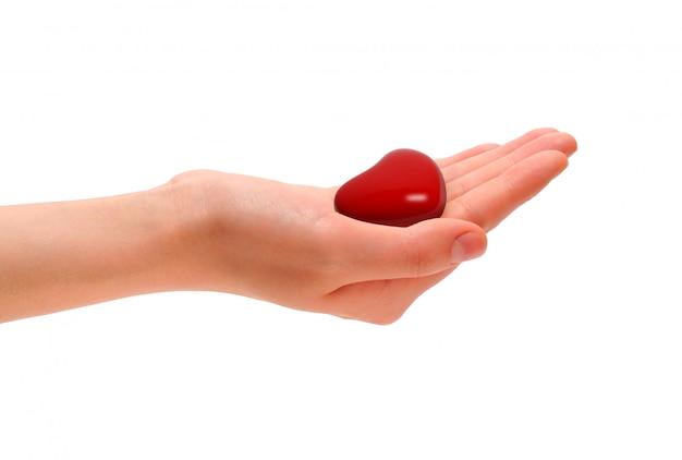 Coeur dans une main