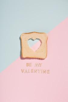 Coeur dans un toast