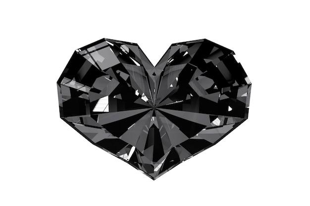 Coeur de diamant sur fond blanc