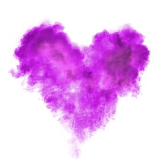 Coeur en explosion de poudre noire isolée