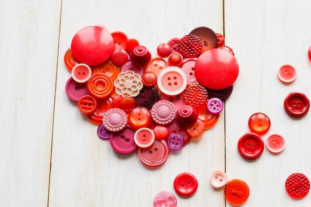 Coeur fait de boutons