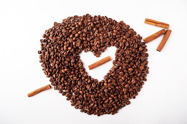 Coeur de grains de café