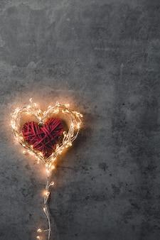Un cœur pétillant. la saint-valentin. carte saint-valentin