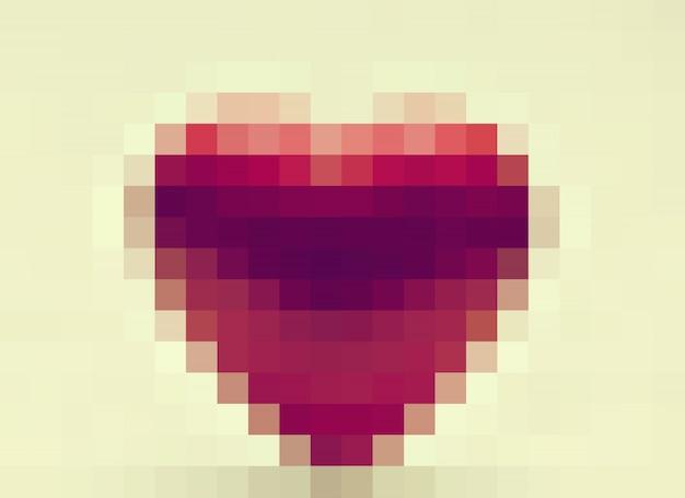 Coeur pixélisé