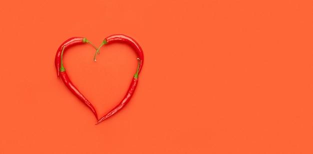 Coeur de poivrons, pop art, saint valentin