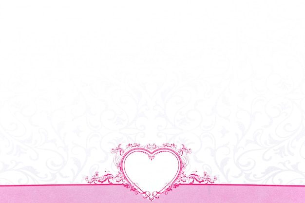Coeur rose pour la saint valentin