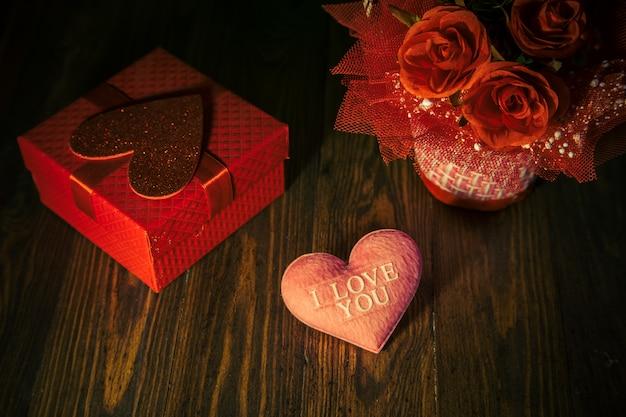 Coeur en saint valentin vintage