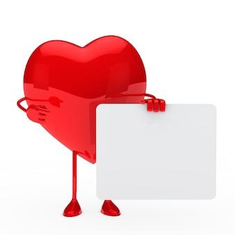Coeur avec un signe