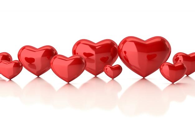 Coeurs en blanc