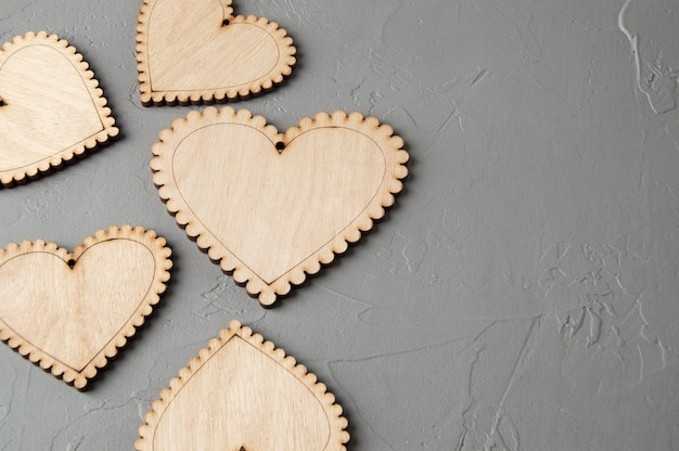 Coeurs en bois