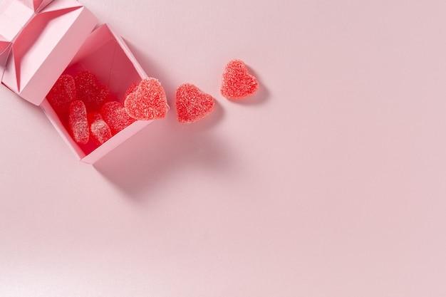 Coeurs bonbons et boîte