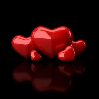 Coeurs en noir
