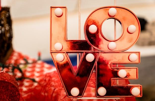 Coeurs rouges et amour