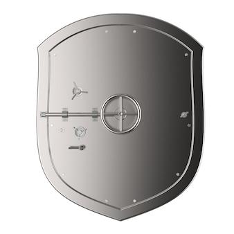 Coffre-fort de banque en acier de rendu 3d ou coffre-fort de banque isolé