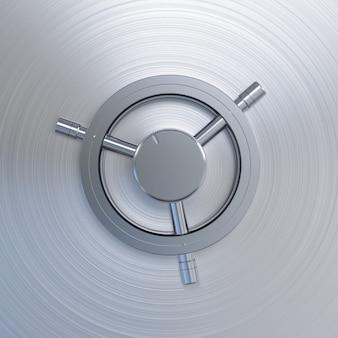 Coffre-fort de banque en acier de rendu 3d ou coffre-fort de banque