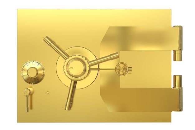 Coffre-fort de banque de rendu 3d ou coffre-fort de banque isolé