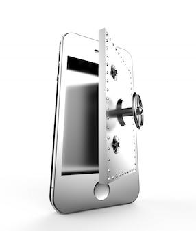 Coffre fort dans un smartphone