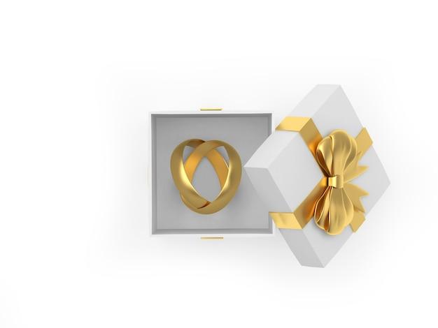 Coffret cadeau avec alliances en or