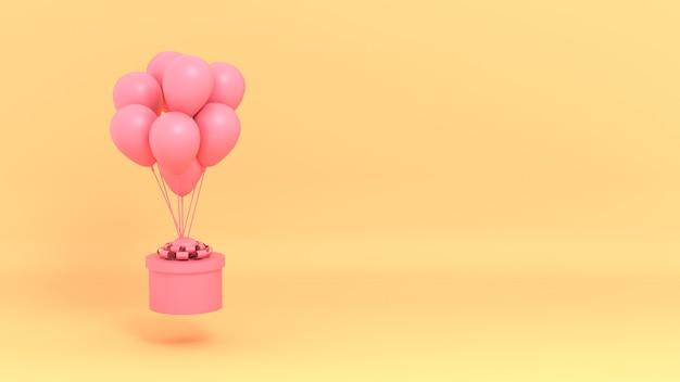 Coffret cadeau avec ballons et espace copie