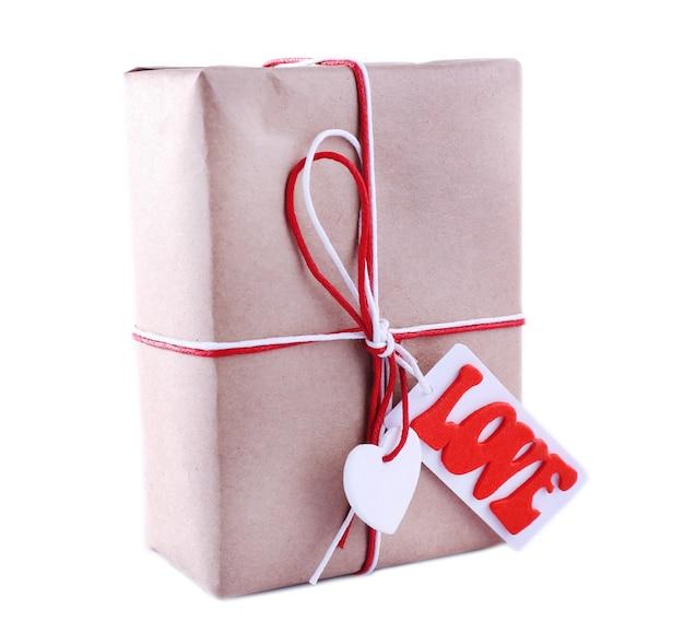 Coffret cadeau sur blanc