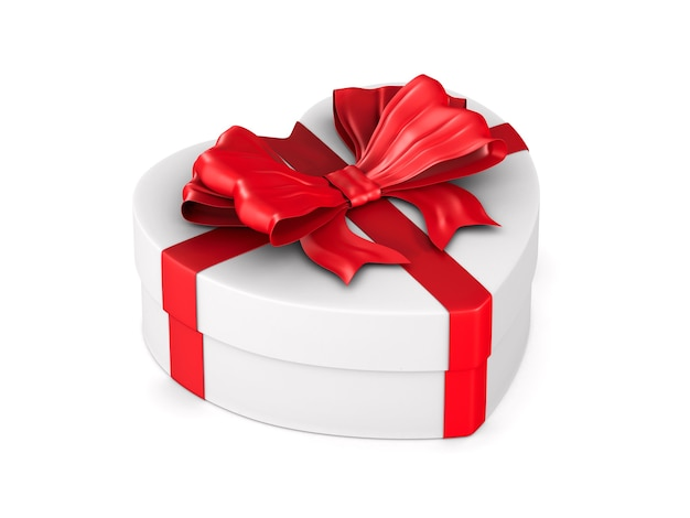 Coffret cadeau sur espace blanc. illustration 3d isolée
