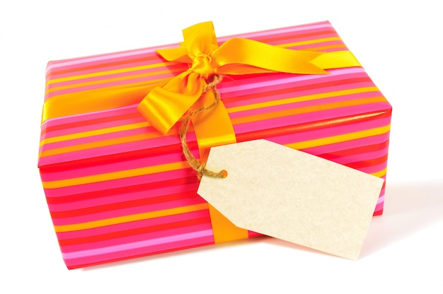 Coffret cadeau avec étiquette vierge