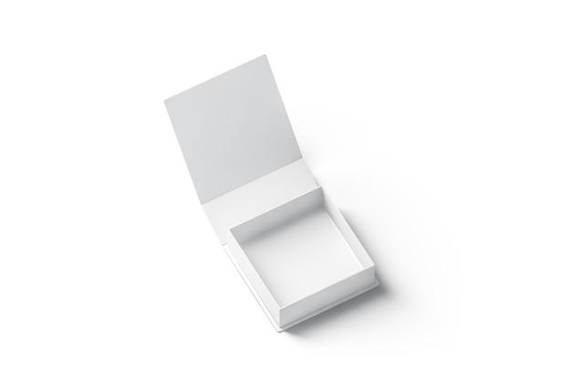 Coffret cadeau ouvert blanc blanc, isolé, rendu 3d.