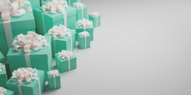 Coffrets cadeaux d'une bannière de célébration